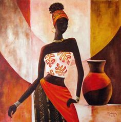 IndianArtZone one of the best Online Art Gallery to buy African painting at affordable price. Turn your Living Space into gorgeous art by the most best artists. African Drawings, African Art Paintings, Art Afro, Afrique Art, Black Art Painting, African American Art, African Women, Black Women Art, Mural Art