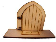 Designed by Soriska Fairy Door Wooden Birch Opening - with shelf/base : engraved fairy mat - fairies welcome Opening Fairy Doors, Tooth Fairy Doors, Elf Door, Forest Theme, Welcome Mats, Birch, Fairies, Base, Shelf