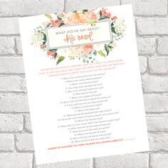 A personal favorite from my Etsy shop https://www.etsy.com/listing/526320865/what-did-he-say-about-his-bride-bridal