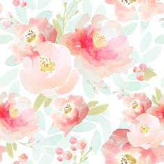 Floral Watercolor Fabric - Indy Bloom Pink Plush Florals By Indybloomdesign - Baby Girl Nursery Cotton Fabric By The Yard With Spoonflower Self Adhesive Wallpaper, Custom Wallpaper, Of Wallpaper, Peel And Stick Wallpaper, Bedroom Wallpaper, Wallpaper Designs, Fabric Wallpaper, Disney Wallpaper, Flower Wallpaper