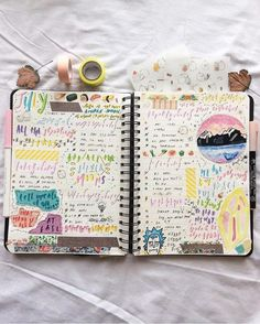 """1,601 Likes, 10 Comments - bujo inspiration.  (@bullet.journals) on Instagram: """"Great double page spread by @chanbaekstudies  // Use the tag #bulletjournalss for a chance of…"""""""