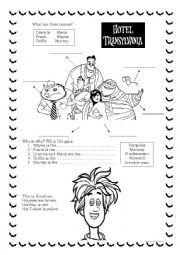 English worksheet: Hotel Transylvania Activities