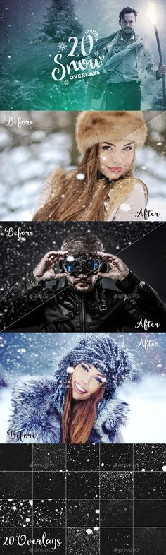 20 Snow Overlays #design Download: http://graphicriver.net/item/20-snow-overlays/13971923?ref=ksioks