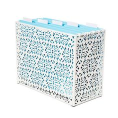 Desktop File Folder Holder (I'm obsessed with The Container Store). Office Desk Organization, Desktop Organization, Paper Organization, Organizing Papers, Organising, Organizing Ideas, File Folder Organization, Organized Office, Organizing Life