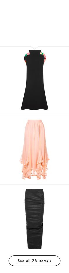 """"""""""" by aniaf ❤ liked on Polyvore featuring skirts, black, crepe maxi skirt, fitted skirt, long skirts, long colorful skirts, long fitted skirts, red maxi skirt, chloe skirt and red skirt"""