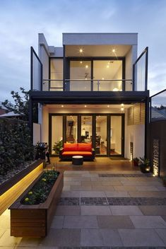 73 Best Terrace Design Ideas For Relaxing At Home | kevoin.com  #terrace #terraceideas #terracedesign Narrow House Designs, Small House Design, Modern House Design, Architect Design House, Architecture Résidentielle, Modern Residential Architecture, Fashion Architecture, Modern Minimalist House, Design Exterior