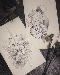 Lioness And Cub Tattoo, Lion Cub Tattoo, Tattoo Mama, Cubs Tattoo, Tattoo For Son, Tattoos For Daughters, Mutterschaft Tattoos, Mommy Tattoos, Paar Tattoos