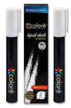 Brilliant White Liquid Chalk Markers By Colore