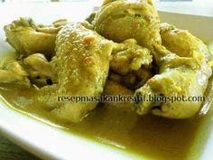 Rice Recipes, Asian Recipes, Kari Ayam, Indonesian Cuisine, Indonesian Recipes, Chicken Recepies, National Dish, Curry, Food And Drink