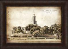 Framed Vintage San Antonio Temple (#D-LDSWA-T-SANANT) - Temple on LDSArtShop.com