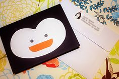 penguin baby shower invitation