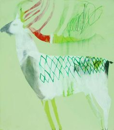 Featuring artwork by © Karlee Rawkins - Where Is The White Caribou? | Anthea Polson Art Gallery Gold Coast QLD