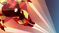 Iron Man Art Deco 1080p HD Wallpaper Games
