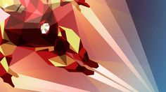 Iron Man Art Deco 1080p HD Wallpaper Games