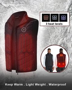 (Christmas OFF)Unisex Warming Heated Vest-Best Xmas Gift – Videals Body Warmer, Neck Warmer, Keep Warm, Stay Warm, Heated Jacket, Waterproof Pants, Textiles, Winter Sports, Unisex