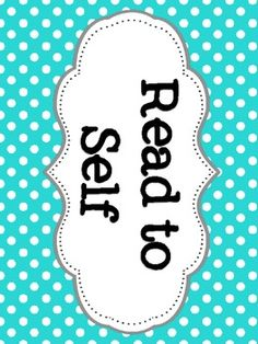 Daily 5 & CAFE Posters - Polka Dot Background.  FREEBIE