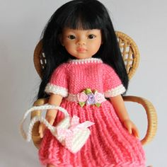OUTFIT-13-034-Puppenkleidung-32-36-cmPuppe-Set2tlg-NEU-Paola-Reina-Effner-Minouche