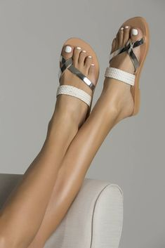 """Comfortable handmade leather sandals """"Azalea"""" for women and girls with straw strapped genuine leather."""