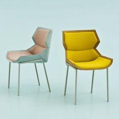 Patricia Urquiola maakt altijd prachtige meubels, dit zijn ook weer mooie stoelen, rank maar niet fragiel en mooie kleurencombinaties