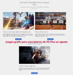 Filtrado juegos gratis para suscriptores de PS Plus en agosto Plants Vs Zombies, Xbox One, Playstation, Ps, Desktop Screenshot, Games, Shooting Games, Acting Games, Filter