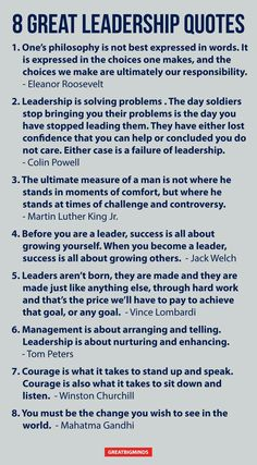 8 great leadership quotes.