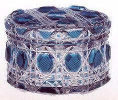 ** Box - modré, broušené sklo ♣ Kiriko **