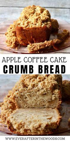 Apple Crumb Bread - The best recipe for Apple cinnamon cake #applecake #applebread #crumbcake Tasty Bread Recipe, Quick Bread Recipes, Sweet Recipes, Baking Recipes, Fruit Recipes, Apple Recipes, Dessert Recipes, Coffee Recipes, Cupcake Recipes