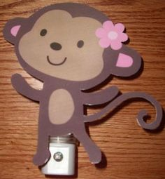 Adorable Jungle Jill Monkey Nursery Night Light by DebbysCrafts, $7.99