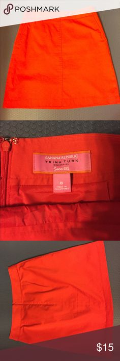 Skirt Trina Turk for Banana Express! Circa 2012. No longer available. Red zip up pencil skirt. Gently used with no obvious signs of wear. Banana Republic Skirts