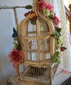 Цветы в старинных птичьих клетках. Обсуждение на LiveInternet - Российский Сервис Онлайн-Дневников