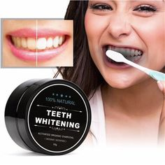 Teeth Whitening DIY Homemade Products Natural Charcoal Professional Oral Hygiene Care Scaling Powder Dental Natural Activated Bamboo Charcoal Teeth Whitener for Daily Use dental casero Coconut Teeth Whitening, Home Teeth Whitening Kit, Natural Teeth Whitening, Crest Whitening, Coconut Activated Charcoal, Activated Charcoal Teeth Whitening, Charcoal Toothpaste, Tooth Powder, Stained Teeth
