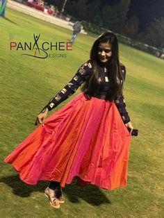 Salwar Designs, Kurta Designs Women, Kurti Designs Party Wear, Long Gown Dress, Sari Dress, Anarkali Dress, Black Anarkali, Indian Anarkali, Long Dresses