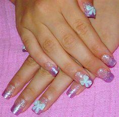 sweet purple by Nekocrafts - Nail Art Gallery nailartgallery.nailsmag.com by Nails Magazine www.nailsmag.com #nailart