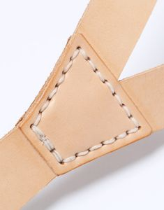 Context Leather Natural Leather Braces