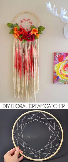 Bohemian Floral Dreamcatcher - Dream a Little Bigger