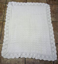 Similar to this Christening Blanket, a blanket that was specially for your Daddy :-)