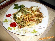 Lasagne so špenátom a šampiňónmi Cauliflower, Vegetables, Food, Lasagna, Cauliflowers, Essen, Vegetable Recipes, Meals, Cucumber