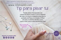 Para plisar el tul puedes pasar una costura de hilván a mano o a máquina y jalar el hilo para que quede perfecto, da click en la imagen para ampliar y recuerda que en nuestra categoría de tips de costura ya tenemos más de 150 tips como este.