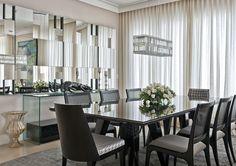 mesas de jantar vidro preto - Pesquisa Google