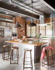 We love a brick kitchen!