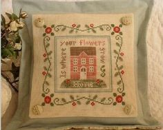 Rose Cottage cross stitch chart by Country Cottage Needleworks