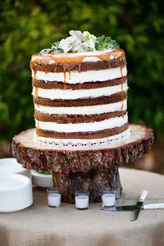 carrot naked cake ~ Tin Roof Farmhouse: Wedding Trends for 2014…Naked Cakes