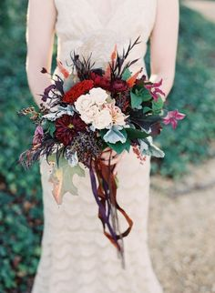 deep autumn colored bouquet by Southern Blooms