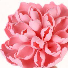 Pink Heirloom Peony Sugarflower cake topper perfect for cake decorating fondant cakes.   CaljavaOnline.com