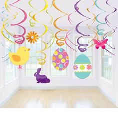 Easter Hanging Swirls | Wally's Party Factory #easter #decor