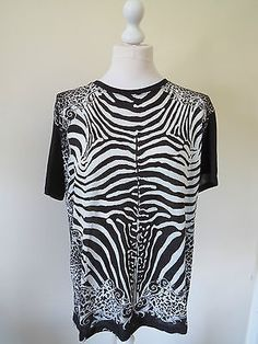 Balmain #zebra #print t-shirt unworn with original tags. cost #£485 2014 season,  View more on the LINK: http://www.zeppy.io/product/gb/2/182157132576/