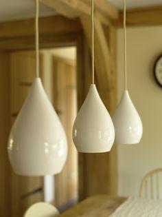 Border Oak - Pendant lighting over the kitchen table.