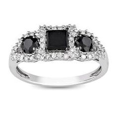 294@Overstock - Princess-cut black and white diamond 3-stone ring10k white gold jewelryClick here for ring sizing guidehttp://www.overstock.com/Jewelry-Watches/10k-White-Gold-1ct-TDW-Black-and-White-Diamond-3-stone-Ring-G-H-I3/5788210/product.html?CID=214117 $294.99