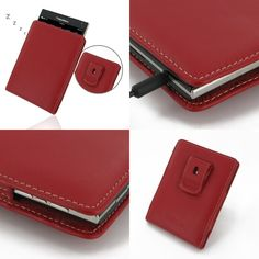 PDair BlackBerry Passport Vertical Pouch + Clip (Red)