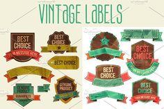 Vintage Labels by Sabelskaya on @creativemarket